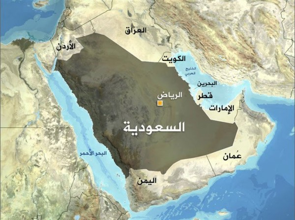 أين تقع المملكة العربية السعودية موقع المراد